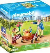 PLAYMOBIL 70194 - City Life - Oma mit Roller