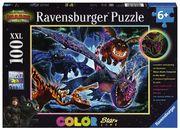 Ravensburger Puzzle - Dragons, Leuchtende Dragons, 100 Teile XXL
