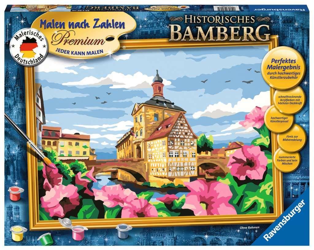 Ravensburger 28913 Malen Nach Zahlen Premium Historisches Bambergstadt