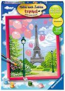Frühling in Paris Malen nach Zahlen Serie C