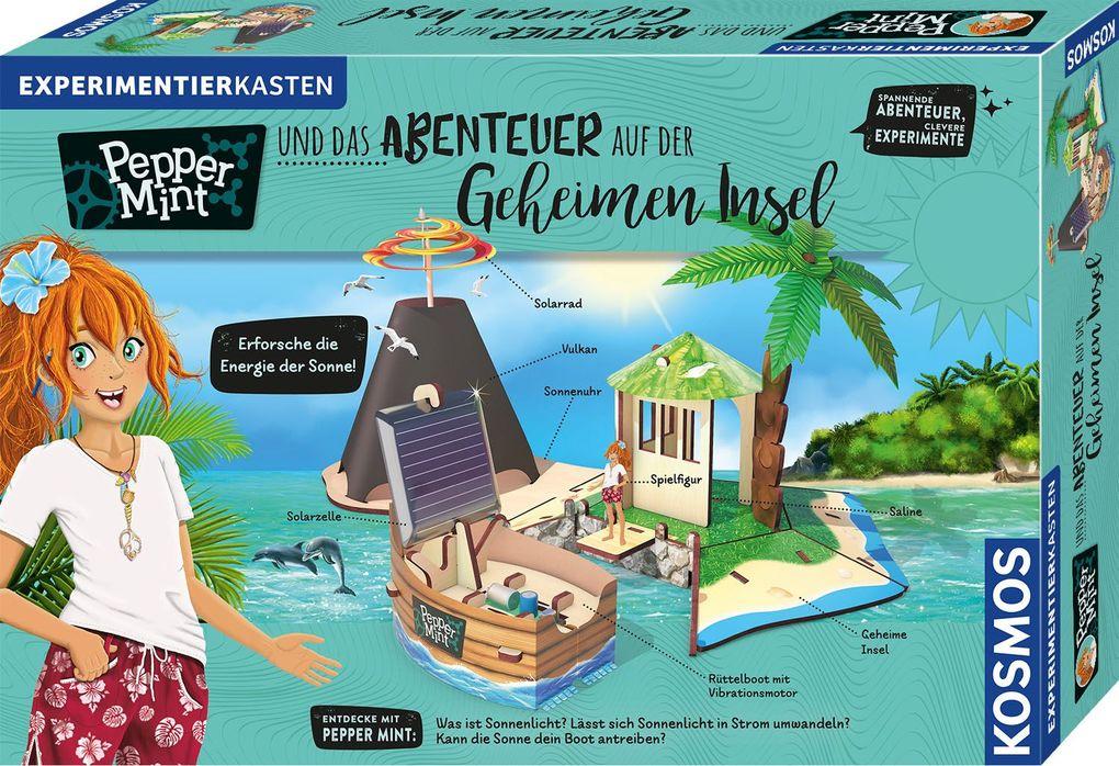Image of KOSMOS 606084 Pepper Mint und das Abenteuer auf der Geheimen Insel Experimentierkasten, Mehrfarbig