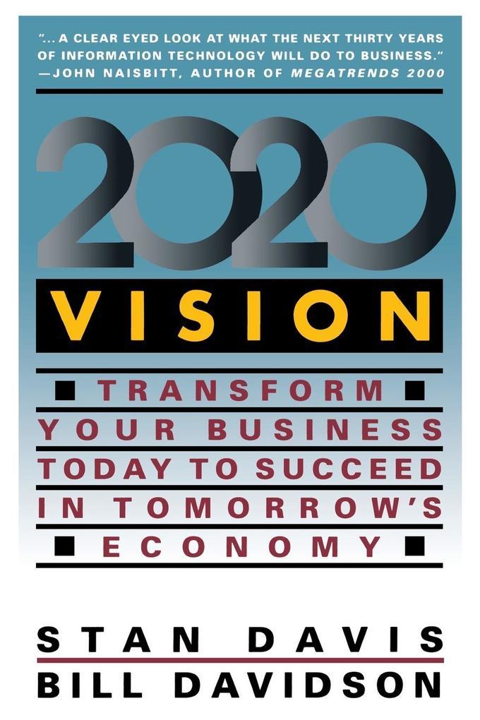 2020 Vision als Taschenbuch von Stan Davis