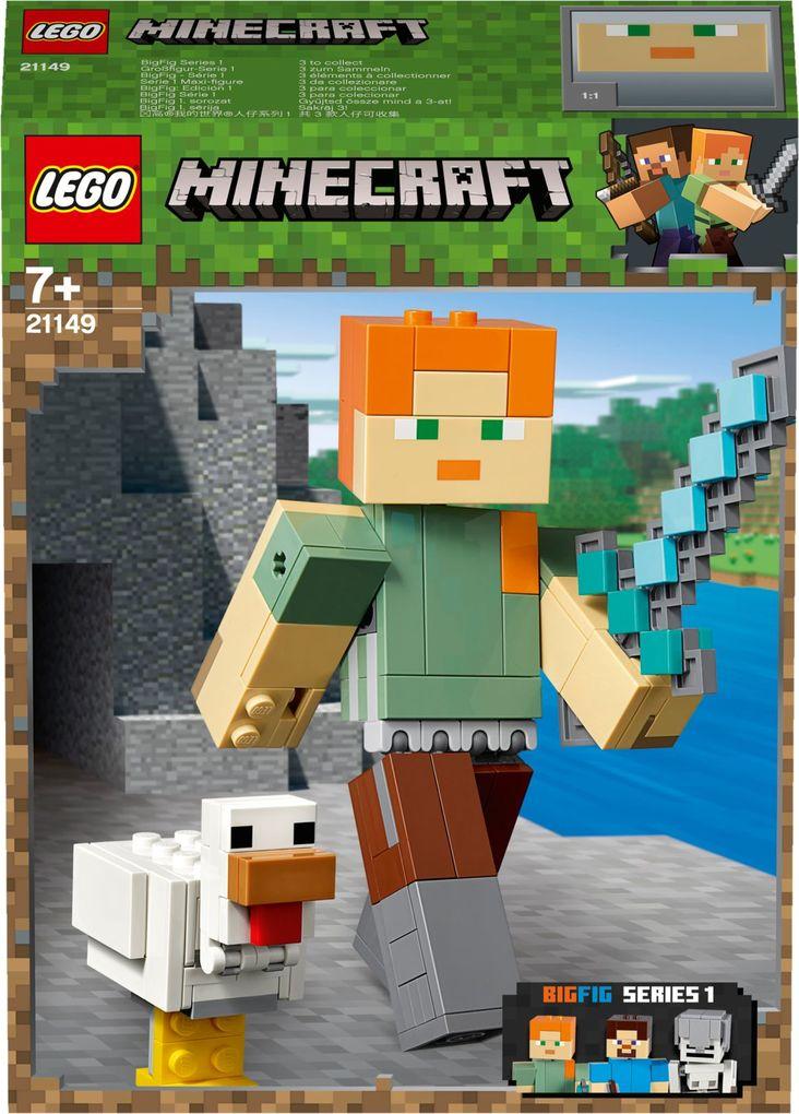 LEGO® - Minecraft - 21149 Minecraft-BigFig Alex mit Huhn als sonstige Artikel
