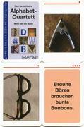 Das fantastische Alphabet-Quartett. Kartenspiel