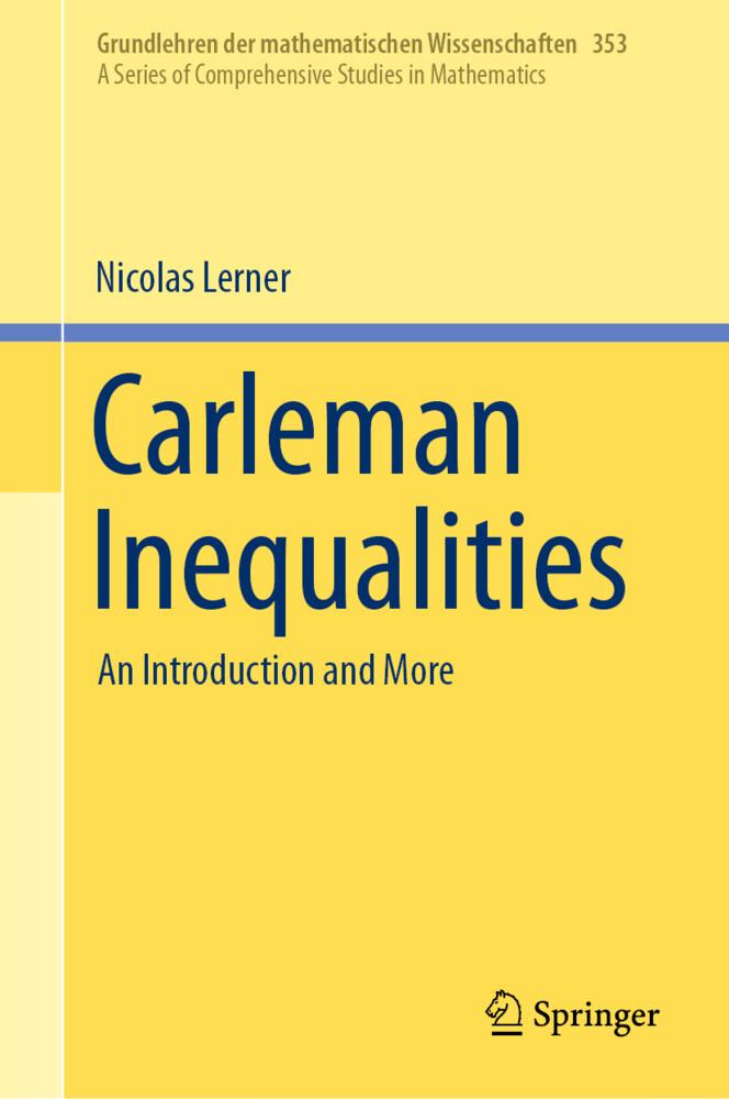 Carleman Inequalities als Buch (gebunden)