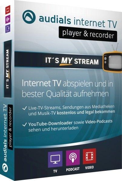 Audials Internet TV, player und recorder, 1 DVD-ROM