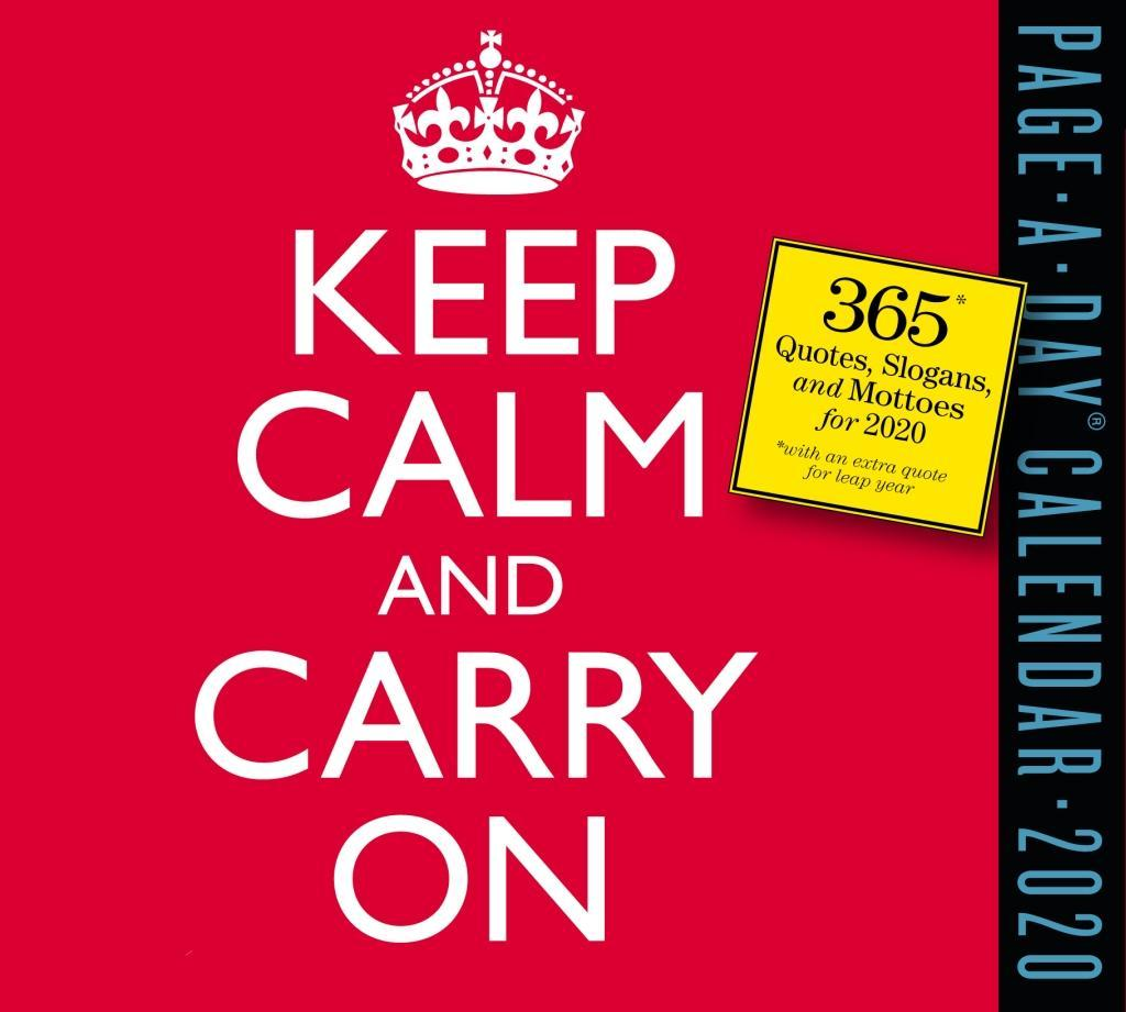 Keep Calm and Carry On 2020 Page-A-Day Calendar als Kalender