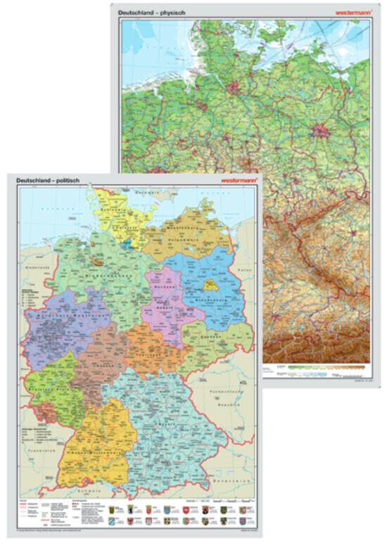 Posterkarten Geographie: Posterkartenset Deutsc...