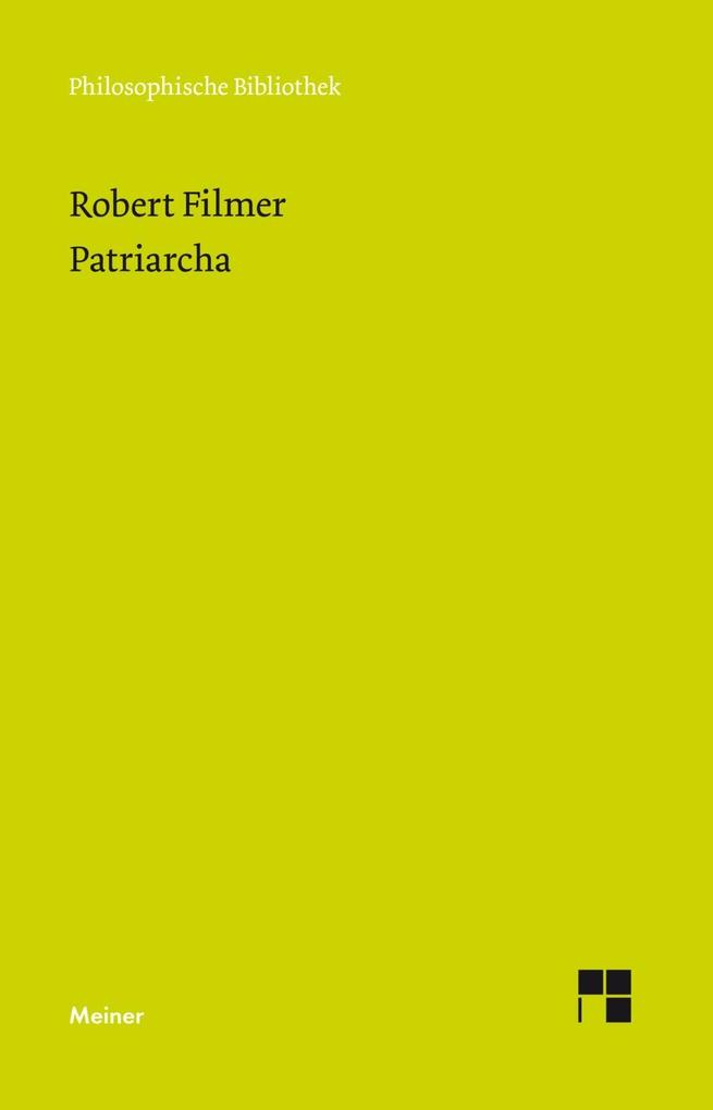 Patriarcha als Buch (gebunden)
