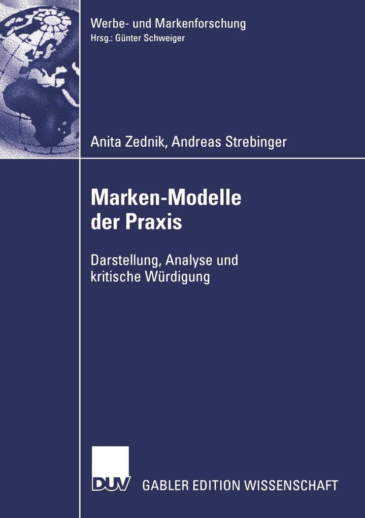 Marken-Modelle der Praxis als Buch von Anita Ze...