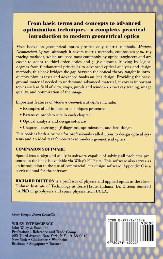 Modern Geometrical Optics (w/ FTP) als Buch von...