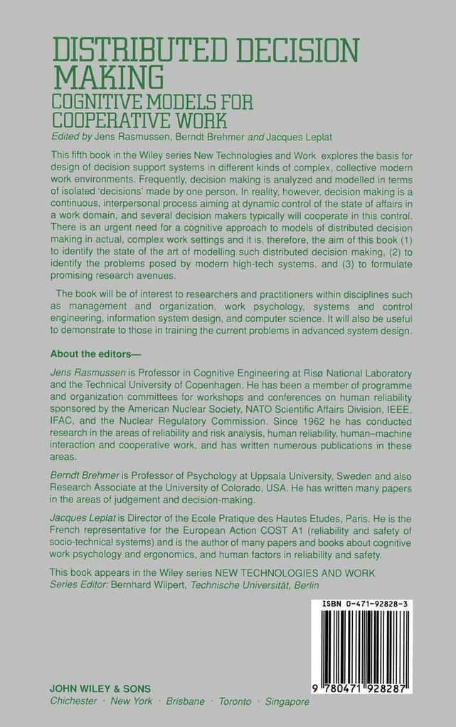 Distributed Decision Making als Buch von Rasmus...