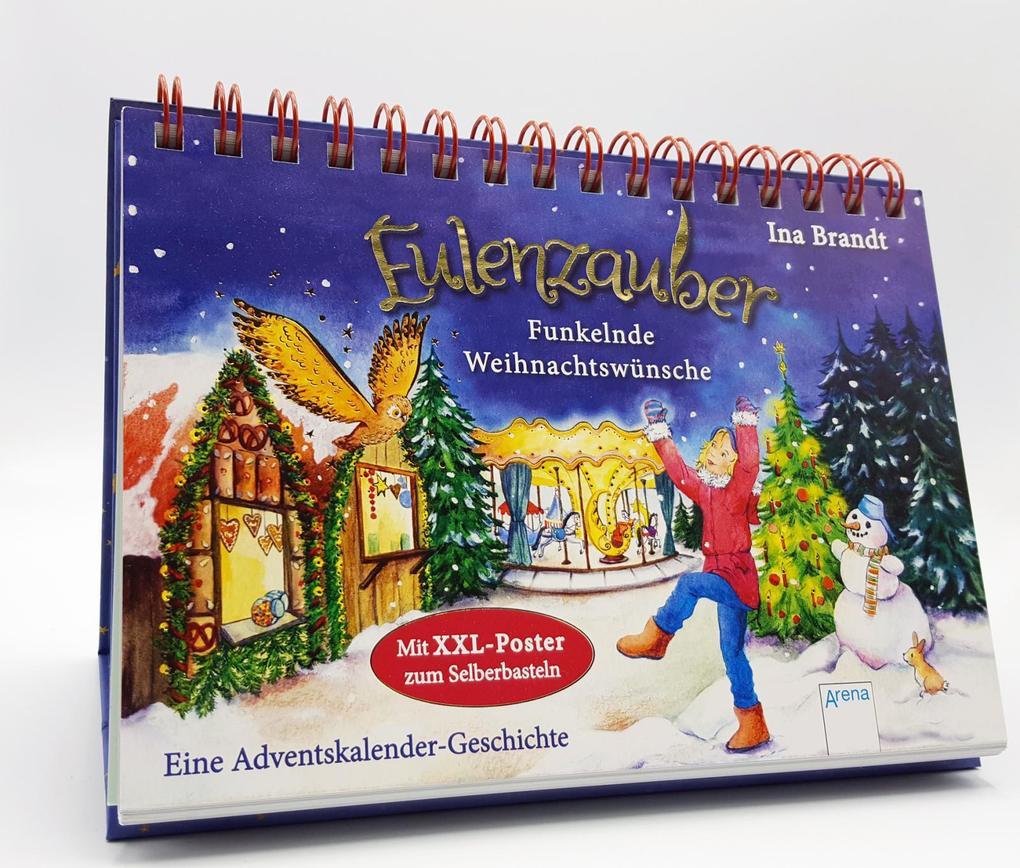 Eulenzauber. Funkelnde Weihnachtswünsche als Buch (kartoniert)