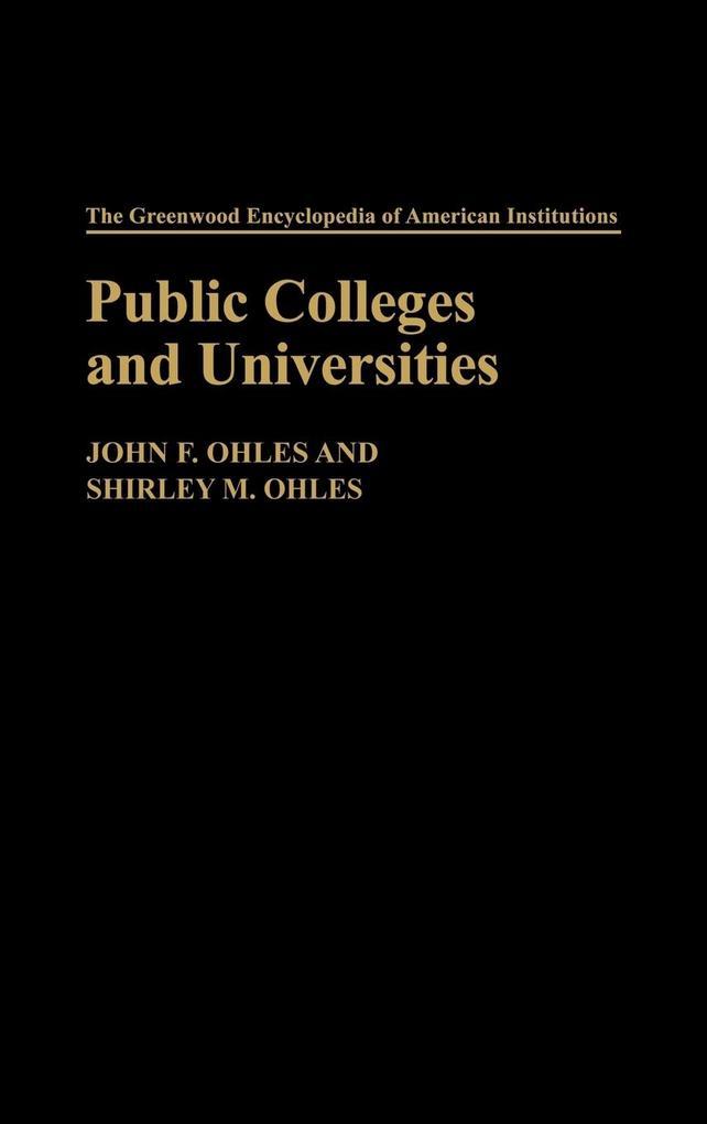 Public Colleges and Universities als Buch (gebunden)