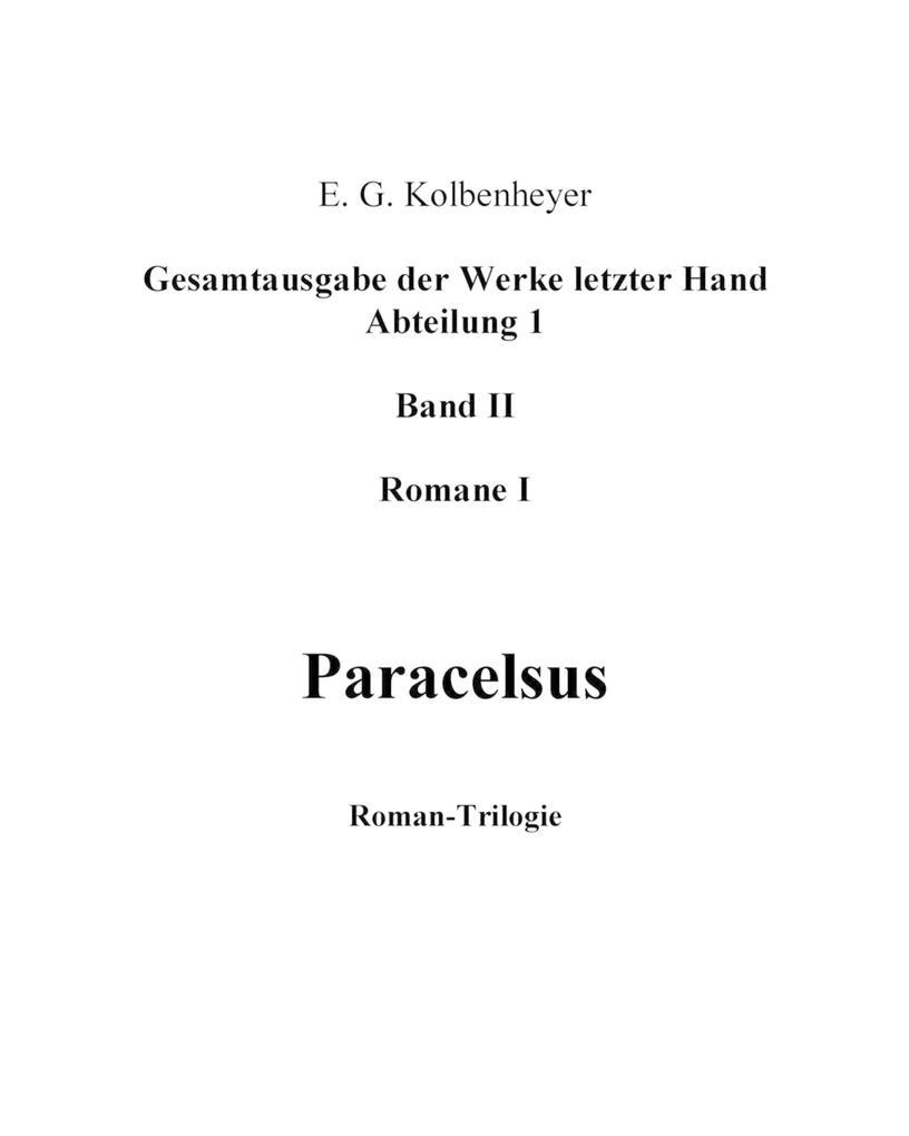 Paracelsus als eBook