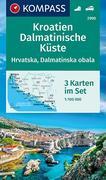 Kroatien, Dalmatinische Küste 1:100 000