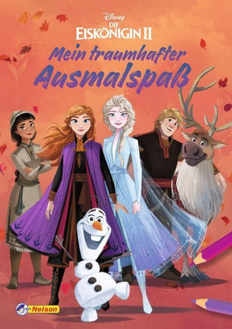 Disney Die Eiskönigin II: Mein traumhafter Ausmalspaß als Buch (kartoniert)