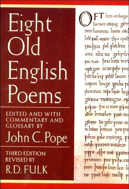 Eight Old English Poems als Taschenbuch