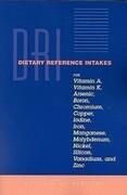 Dietary Reference Intakes for Vitamin A, Vitamin K, Arsenic, Boron, Chromium, Copper, Iodine, Iron, Manganese, Molybdenum, Nickel, Silicon, Vanadium,