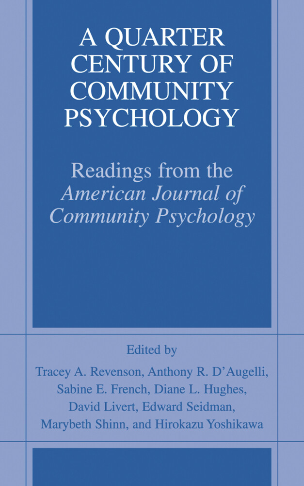 A Quarter Century of Community Psychology als B...