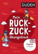 Mein Ruckzuck-Übungsblock Englisch 1. Lernjahr