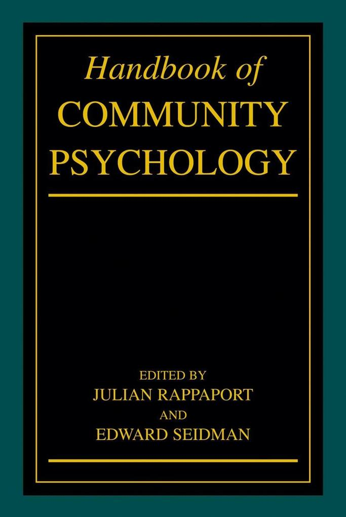 Handbook of Community Psychology als Buch von