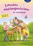 5 Minuten Mädchengeschichten für Leseanfänger mit Silbenfärbung ab 6 Jahre für die 1. Klasse.