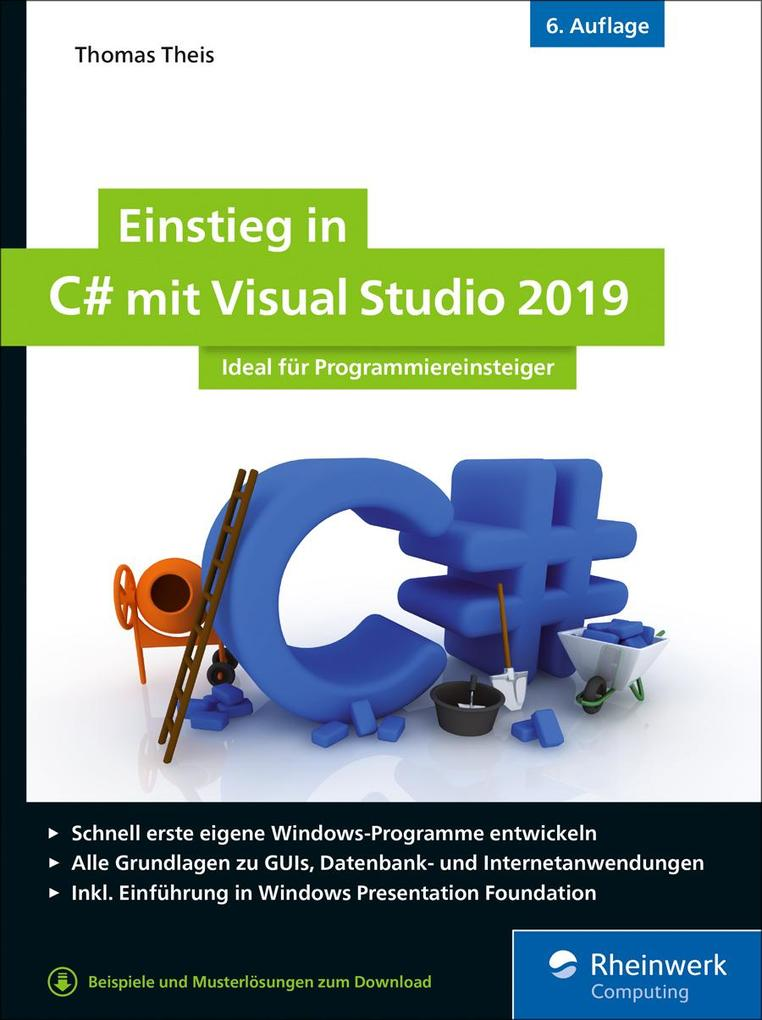 Einstieg in C# mit Visual Studio 2019 als eBook