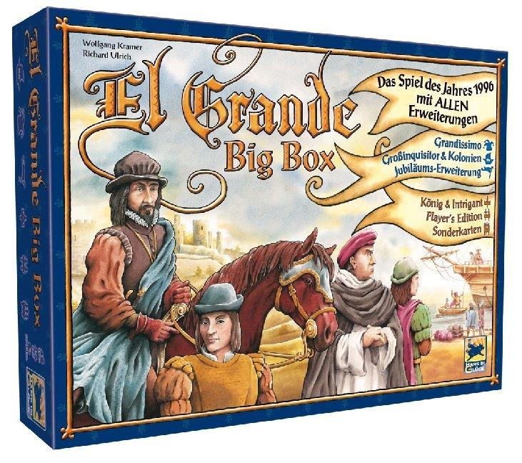 Image of Asmodee HIGD1005 - El Grande Big Box (Spiel des Jahres 1996 mit ALLEN Erweiterungen)