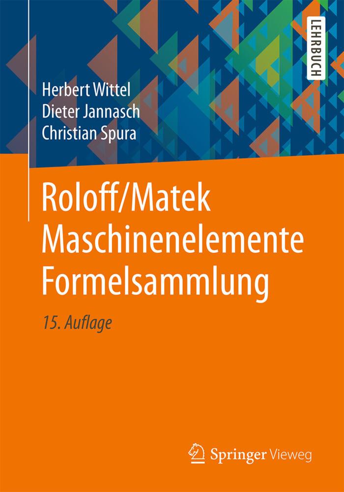 Roloff/Matek Maschinenelemente Formelsammlung als Buch (kartoniert)