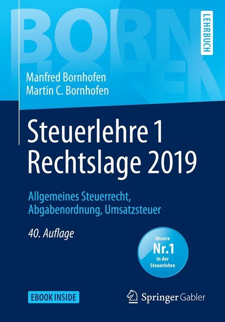 Steuerlehre 1 Rechtslage 2019 als Buch