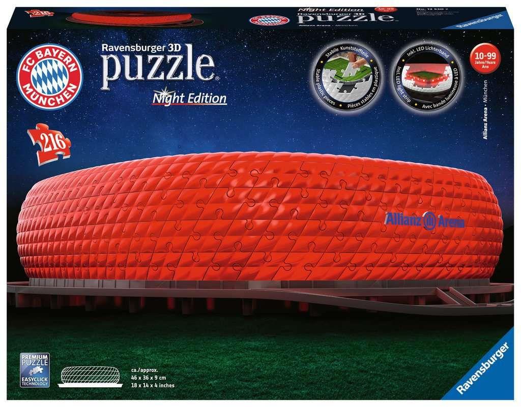 Ravensburger Puzzle - 3D Puzzle Allianz Arena Night Edition als Spielware