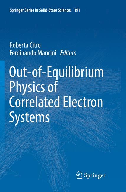 Out-of-Equilibrium Physics of Correlated Electron Systems als Buch (kartoniert)