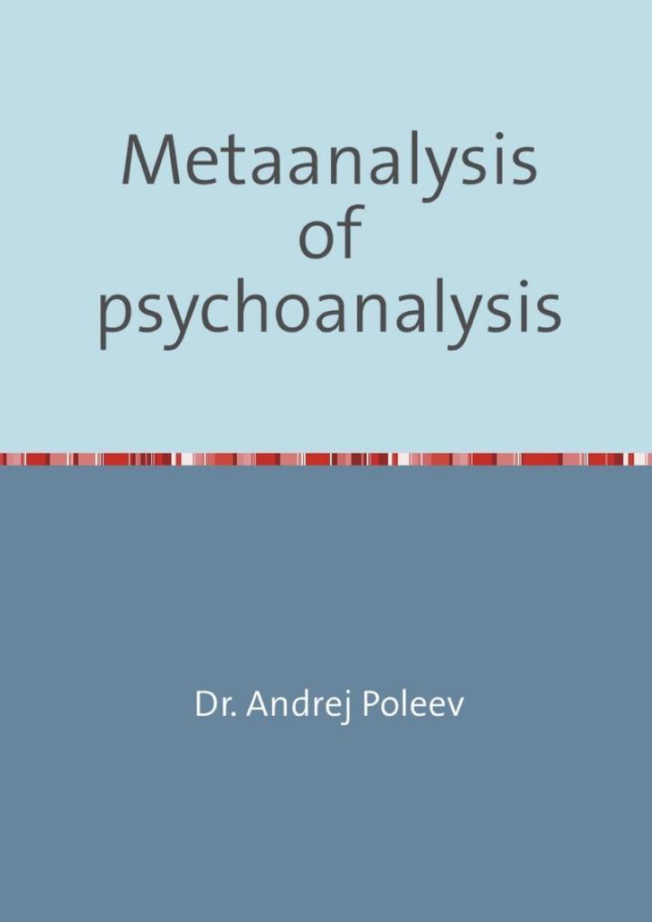 Metaanalysis of psychoanalysis als eBook epub
