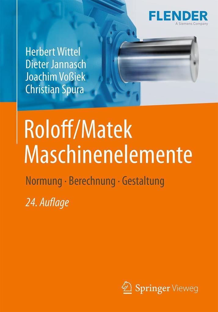 Roloff/Matek Maschinenelemente als eBook pdf