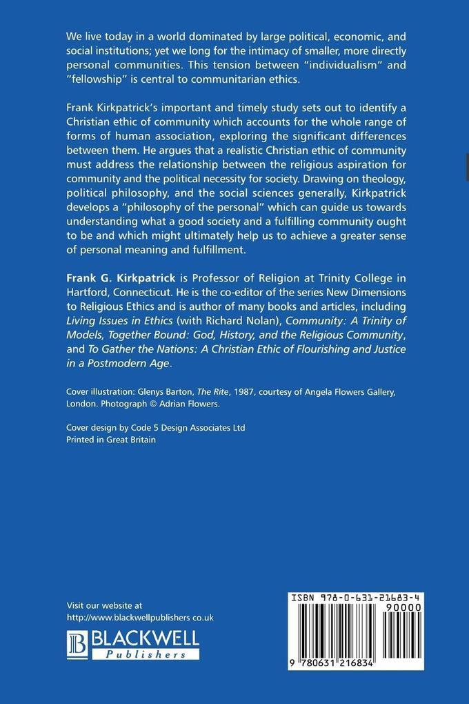 Ethics of Community als Taschenbuch von Kirkpat...