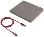 Tolino Epos 2 Slimfit Tasche + Kabel Grau/Rot