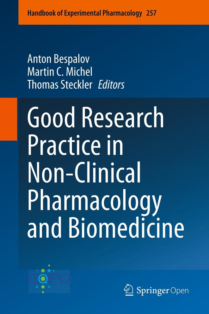 Good Research Practice in Non-Clinical Pharmacology and Biomedicine als Buch (gebunden)