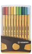 STABILO point 88 20er ColorParade anthrazit/orange