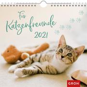 [Für Katzenfreunde 2021 Dekorativer Wandkalender mit Monatskalendarium]