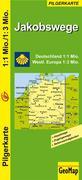 Jakobswege Deutschland und westliches Europa 1:1.000.000 / 3.000.000