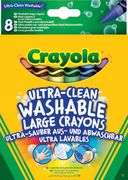 Caryola - Klassik - 8 Ultra Clean aus- und abwaschbare Wachsmalstifteabwaschbare Wachsmalstifte
