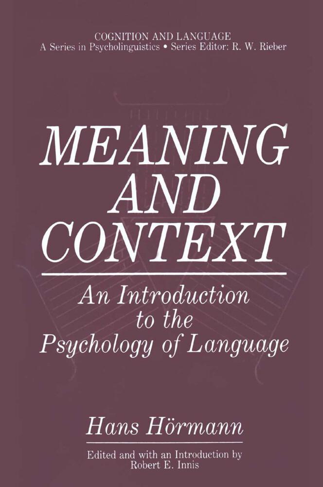 Meaning and Context als Buch von Hans Hörmann