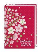 Floral 17-Monats-Kalenderbuch A5 - 2021