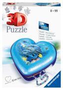 Herzschatulle - Unterwasserwelt. 3D Puzzle 54 Teile