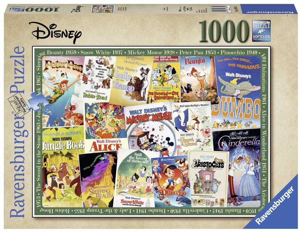 Disney Vintage Movie Poster als Spielware