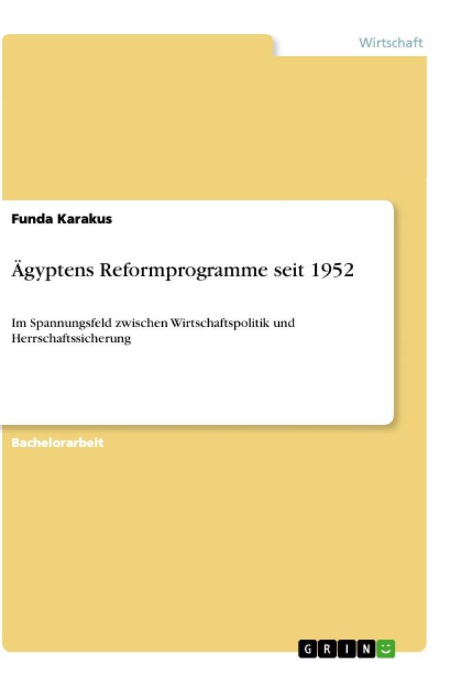 Ägyptens Reformprogramme seit 1952 als Buch (kartoniert)