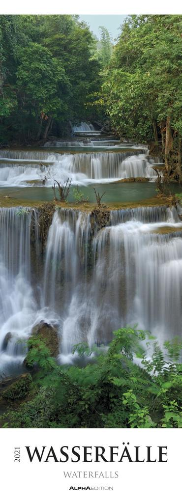 Wasserfälle 2021 Streifenkalender XXL als Kalender
