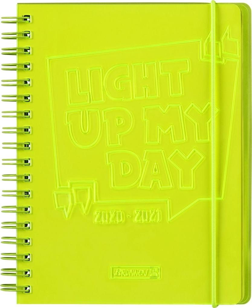 """BRUNNEN 1071890161 Wochenkalender/Schülerkalender 2020/2021 """"Light Up"""" als Kalender"""