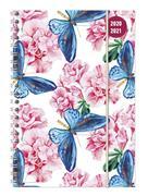 Collegetimer Butterfly 2020/2021 - Schüler-Kalender A5 (15x21 cm)